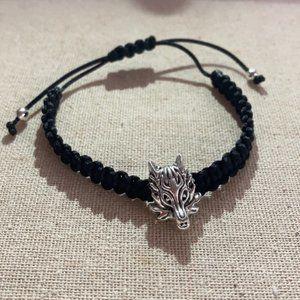 Unisex macrame wolf bracelet 🐺